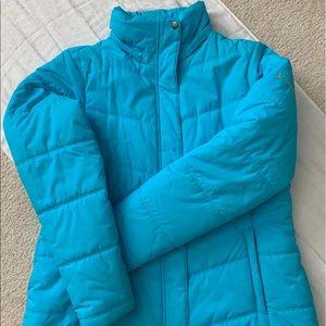 Women's Columbia hooded puffer coat